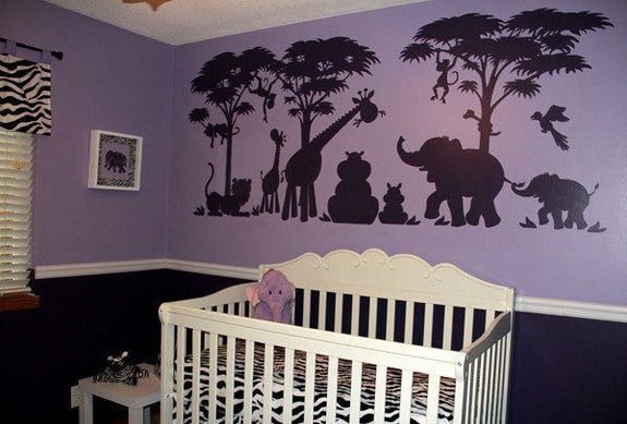 Silhouette Safari, a DIY Paint by Number Wall Mural by Elephants on the Wall - Seasonal Expressions - 8
