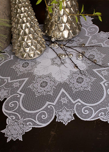 Table Linen-Table Topper-Tablecloth-Heritage Lace-Snowflake
