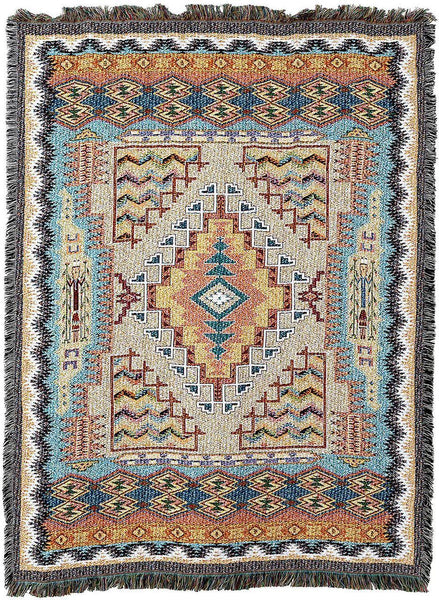 Throw Blanket-54 x 72-Southwest-Turquoise