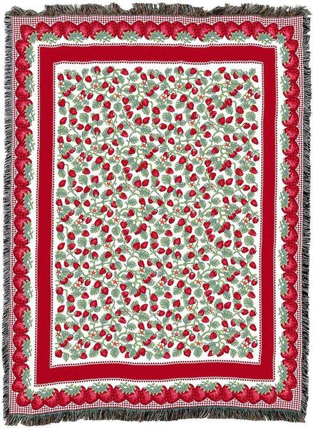 Throw Blanket-54 x 72-Coordinating Look-The Cozy Home-Strawberry Festival
