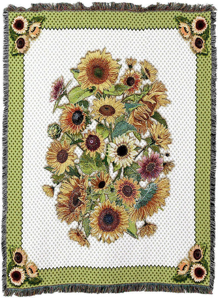 Throw Blanket-54 x 72-Sunflower Garden