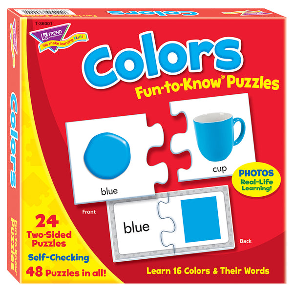 Early Learning-Puzzle-Educational-Colors-Ages 3 Plus