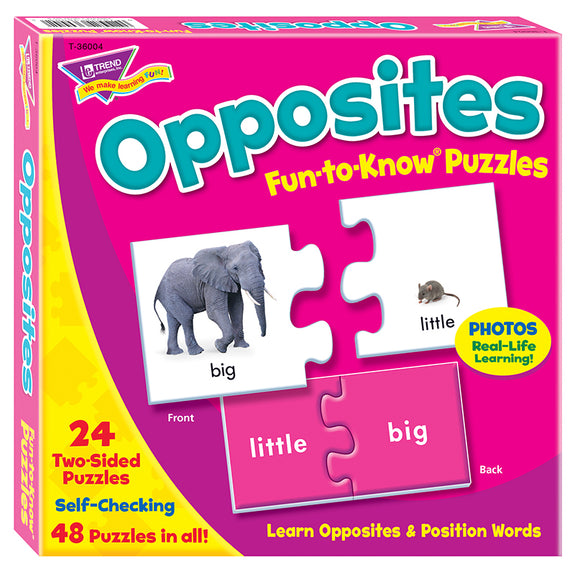 Early Learning-Puzzle-Educational-Opposites-Ages 3 Plus