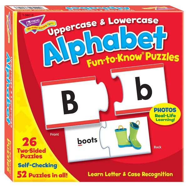 Puzzle-Educational-Alphabet-Uppercase-Lowercase-Ages 3 Plus
