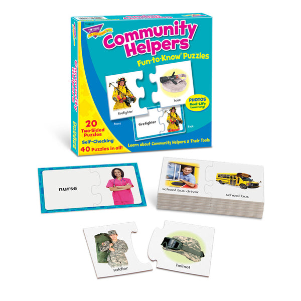 Early Learning-Puzzle-Educational-Community Helpers