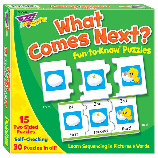 Early Learning-Puzzle-Educational-Sequencing-What Comes Next-Ages 4 Plus