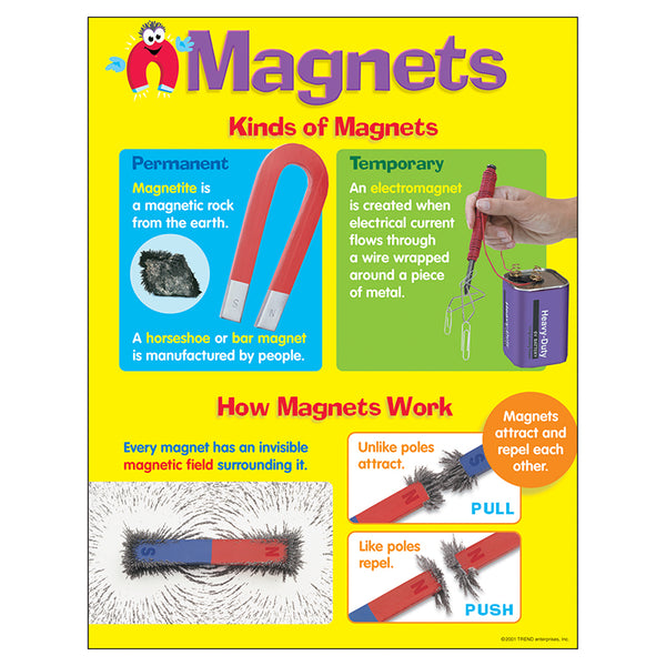 Bulletin Board Chart-Educational-Physical-Science-Magnets