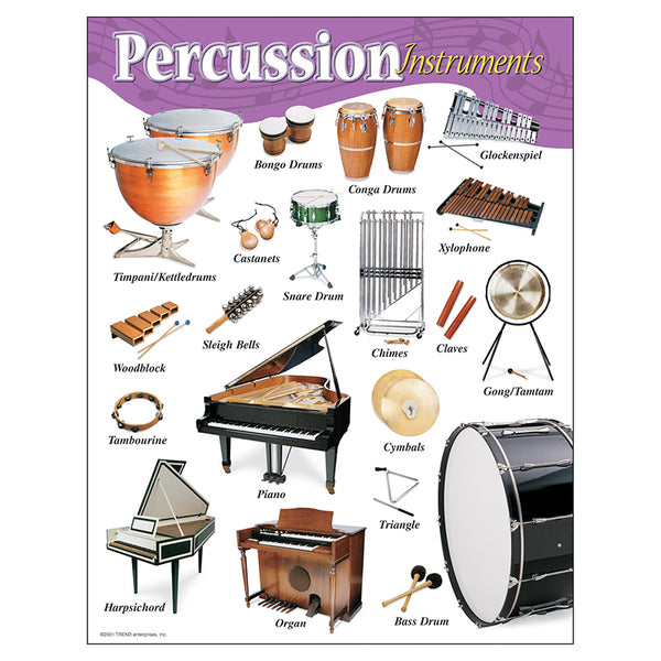 Bulletin Board Chart-Educational-Music-Percussion Instruments