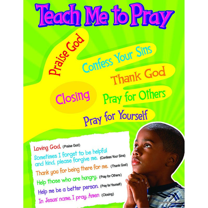 Teach Me To Pray Learning Chart Expressions Of Home
