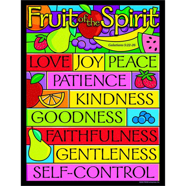 Bulletin Board Chart-Christian-Fruit of the Spirit