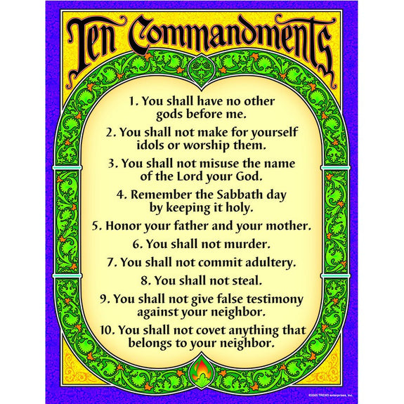 Christian Chart-The Ten Commandments-Babies and Children