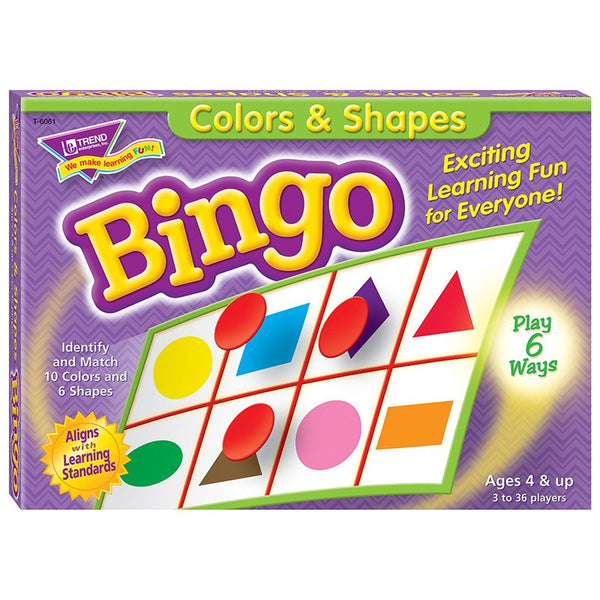 Early Learning-Bingo-Colors and Shapes- Ages 4+