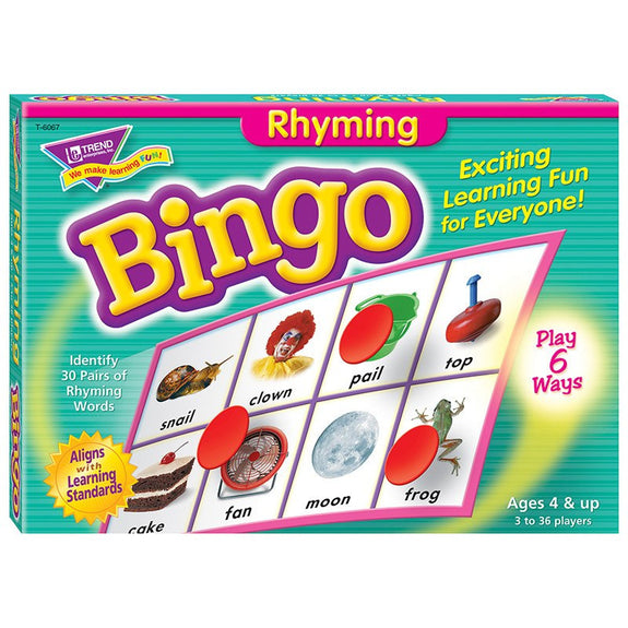 Family Time-Bingo-Rhyming-Ages 4+