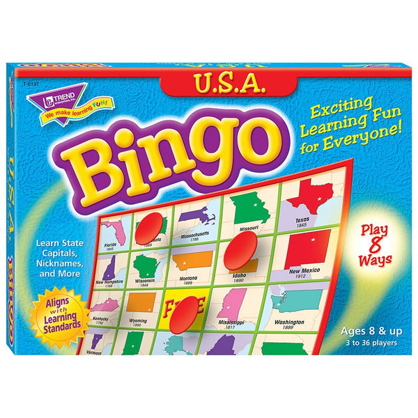 Geography Game-Bingo USA-Ages 8+