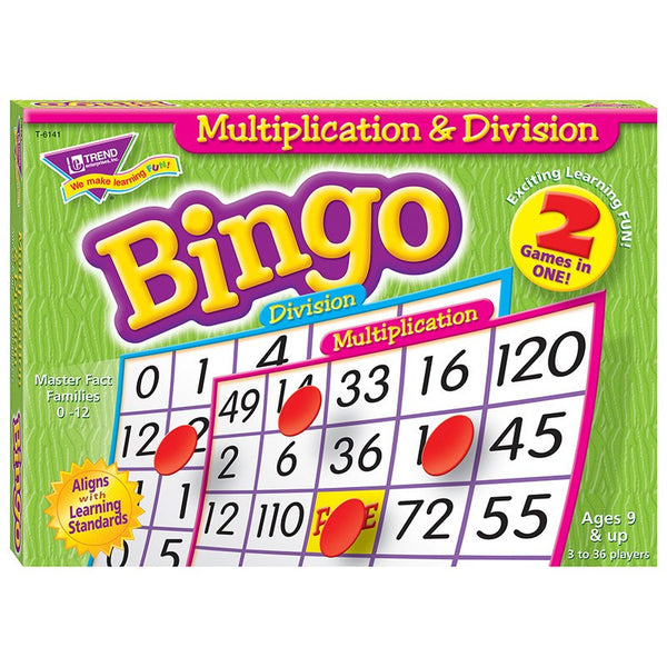 Educational-Math-Bingo-Multiplication and Division-Ages 9+