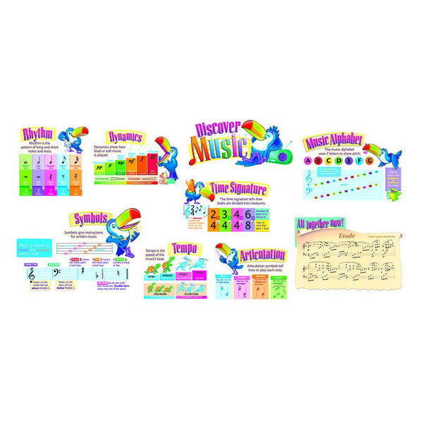 Bulletin Board Set, Discover Music - Seasonal Expressions