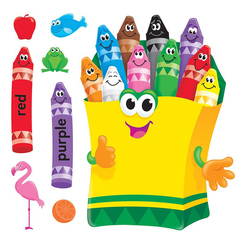 Educational Early Learning Colorful Crayons Chart Bulletin