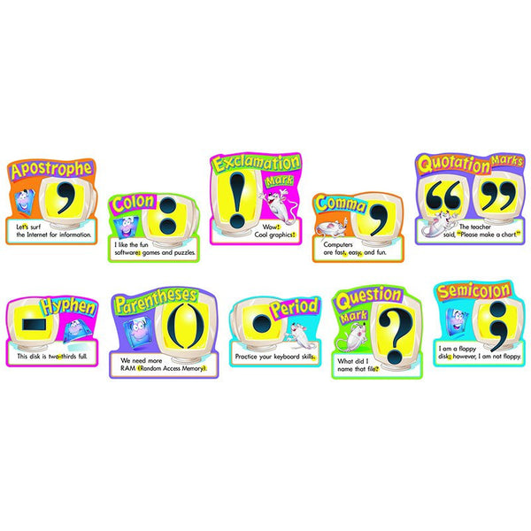 Punctuation- 30 Pack -5 x 8 -Educational Charts-Bulletin Board Set