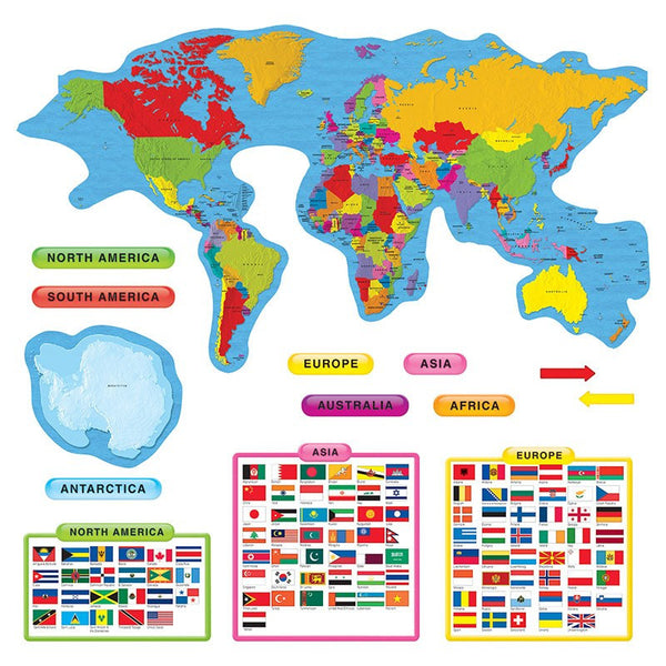 Bulletin Board Chart-Educational-Social Studies-Continents-Countries