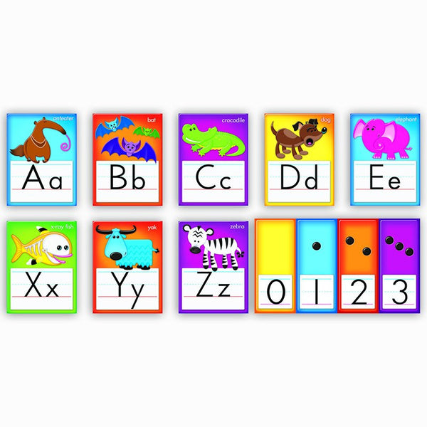 Bulletin Board Set, Awesome Animals Alphabet Cards, Standard Manuscript - Seasonal Expressions