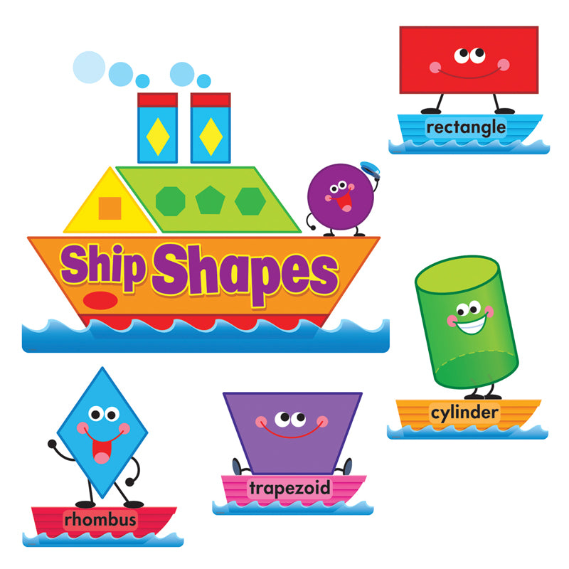 Educational-Early Learning-Ship Shapes-Colors-Bulletin Board Set