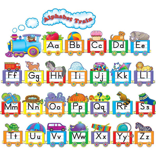 Bulletin Board Set, Alphabet Train - Seasonal Expressions