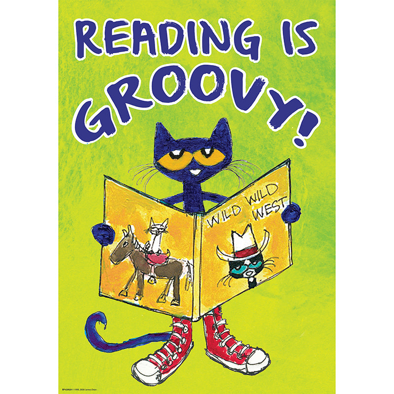 Children's Motivation-Reading is Groovy-Pete the Cat-Positive-Bulletin Board Chart