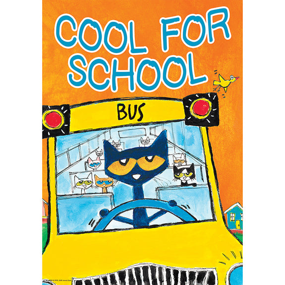 Character Building-Motivational-Cool for School-Pete the Cat-Bulletin Board Chart