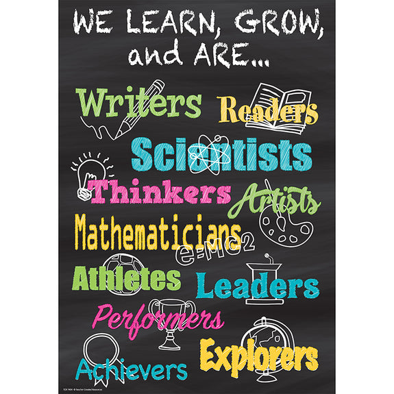 Motivational-We Learn-Grow-Are-Bulletin Board Chart