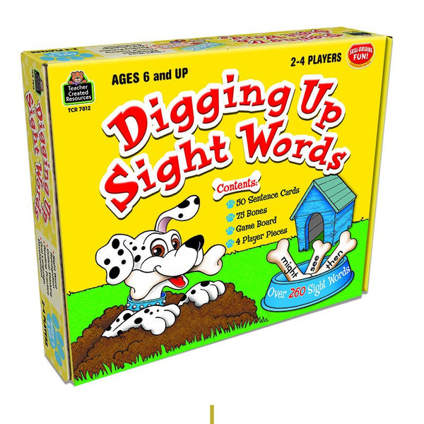 Digging Up Sight Words Game for Ages 6 and Up - Seasonal Expressions