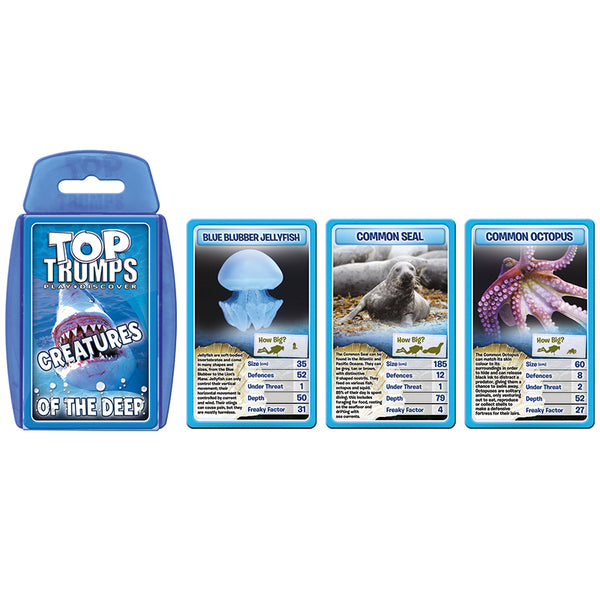 Science Fun-Educational Card Game-Creatures of the Deep-Top Trumps