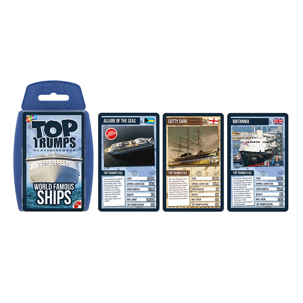 Just the Facts-Educational Card Game-World Famous Ships-Top Trumps