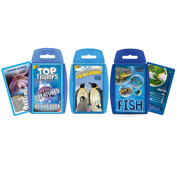 Loving Nature-Educational Card Game-Marine Life-Top Trumps-Bundle Pack