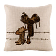 Throw Pillows-18x18 OR 12x20-Heritage Lace-Tack Room-Cowboy