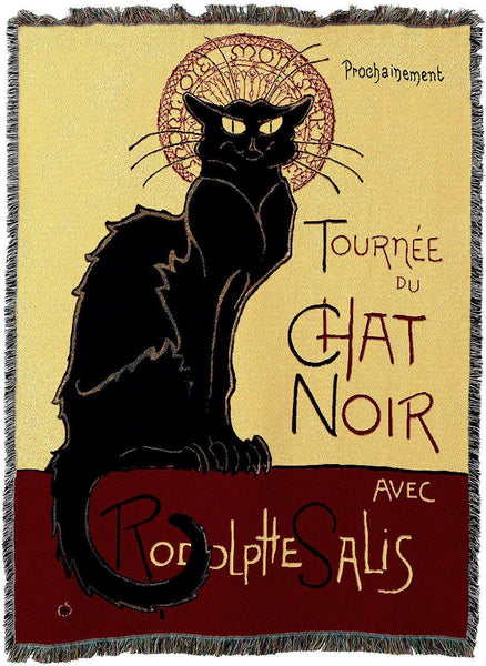 Throw Blanket-54 x 72-Animal Lover-Le Chat Noir-Cat