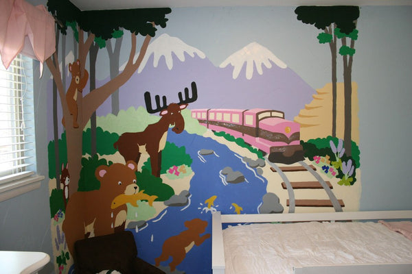 Training In Alaska, a DIY Paint by Number Wall Mural by Elephants on the Wall - Expressions of Home