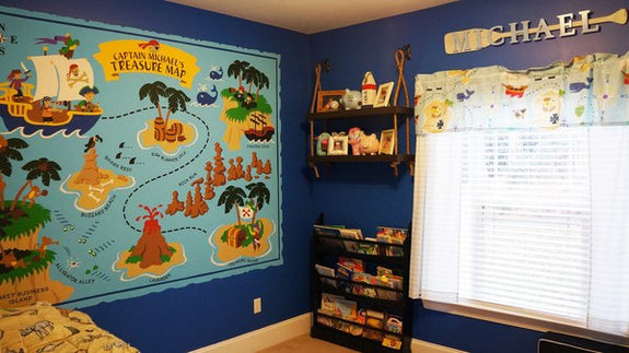 Pirate Pete's Treasure Map, a DIY Paint by Number Wall Mural by Elephants on the Wall - Seasonal Expressions - 8
