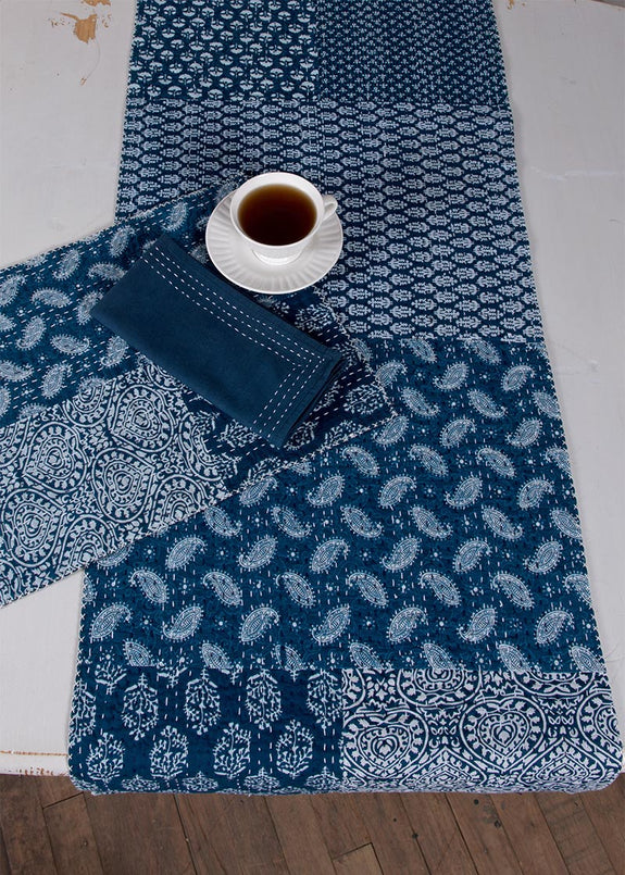 Table Runner-Dresser Scarf-True Blue-Heritage Lace