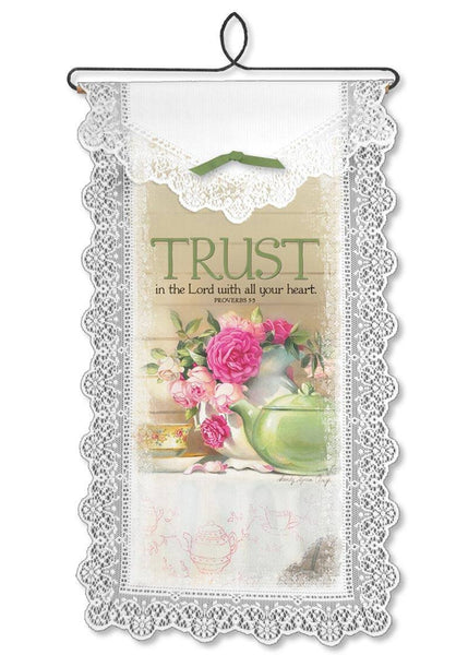 Trust In The Lord, a Wallhanging from Heritage Lace - Expressions of Home