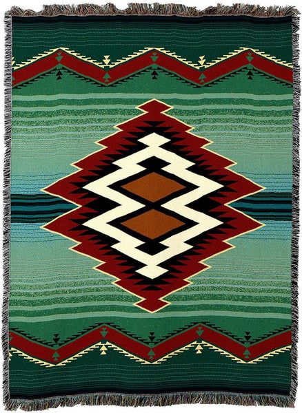 Throw Blanket-54 x 72-Matching-Throw Pillow-Southwest-Turak