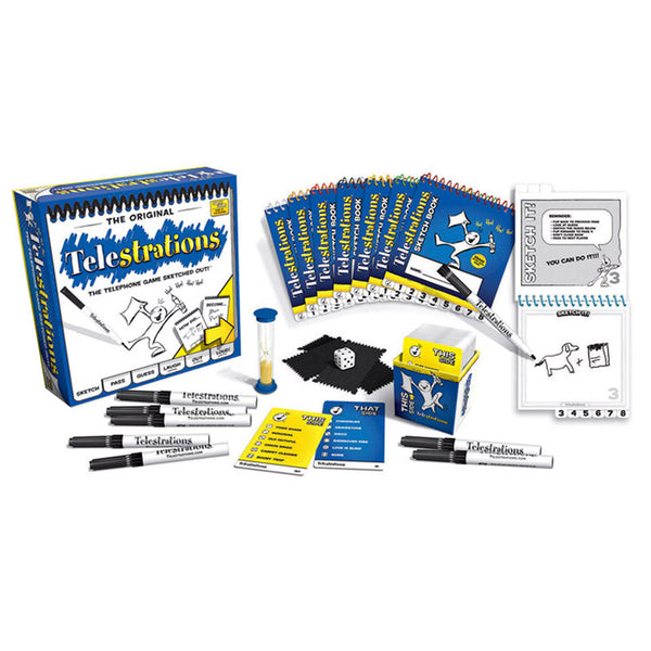 Family Games-Telestrations-Ages 12 Plus-4-8 Players