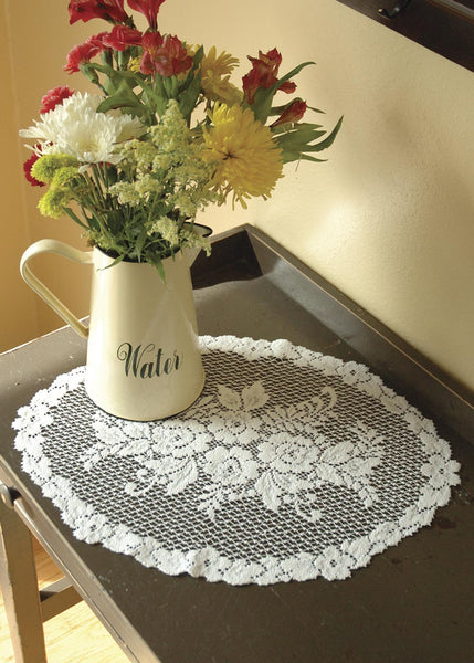 Placemats-Set of 6-14x20-Victorian Rose-Heritage Lace