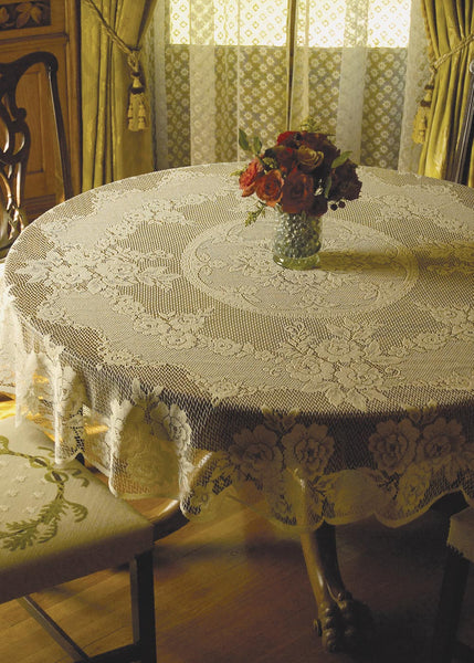 Tablecloth-72 OR 43 inch-Round-Victorian Rose-Heritage Lace