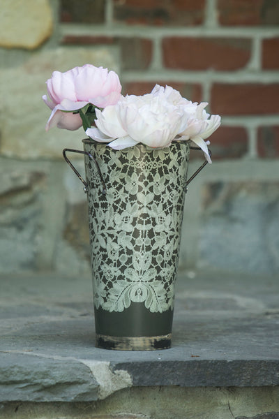 Flower Bucket-Antique Style-Floral Display