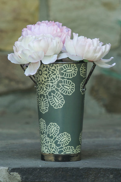 FlowerBucket-Antique Style-Floral Display