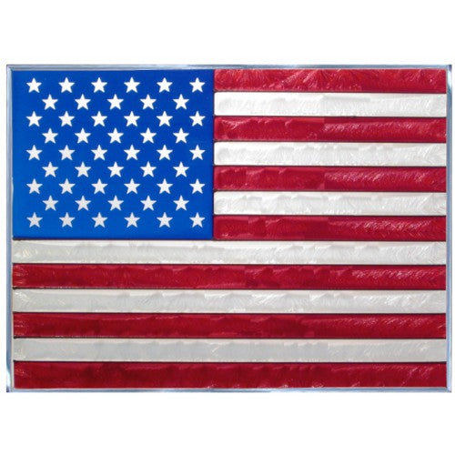 Art Glass Panel-Flag-Patriotic-Americana-Made in USA