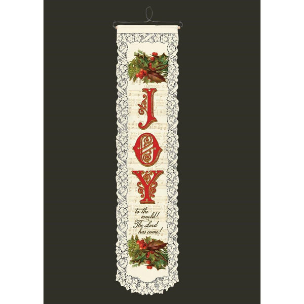Joy to the World Wallhanging from Heritage Lace - Seasonal Expressions