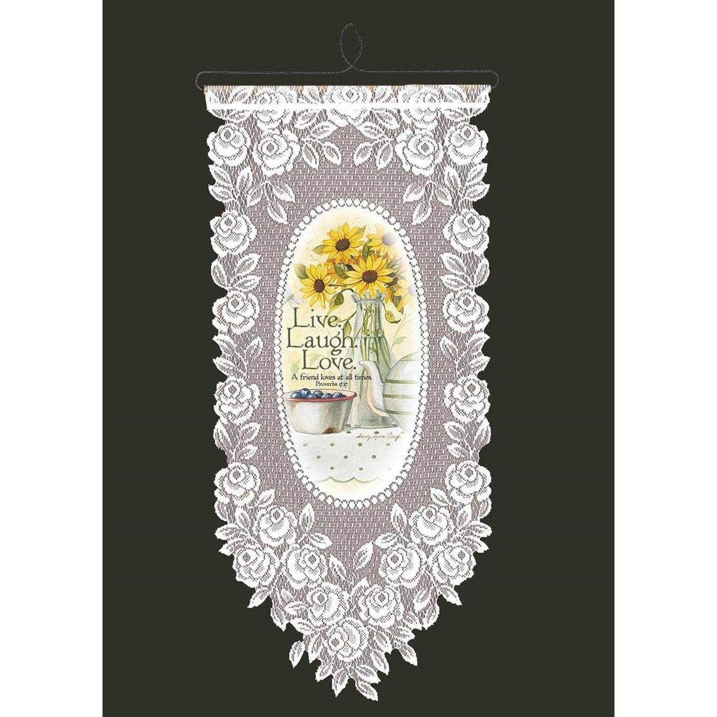 Live Laugh Love Wall Hanging from Heritage Lace - Seasonal Expressions