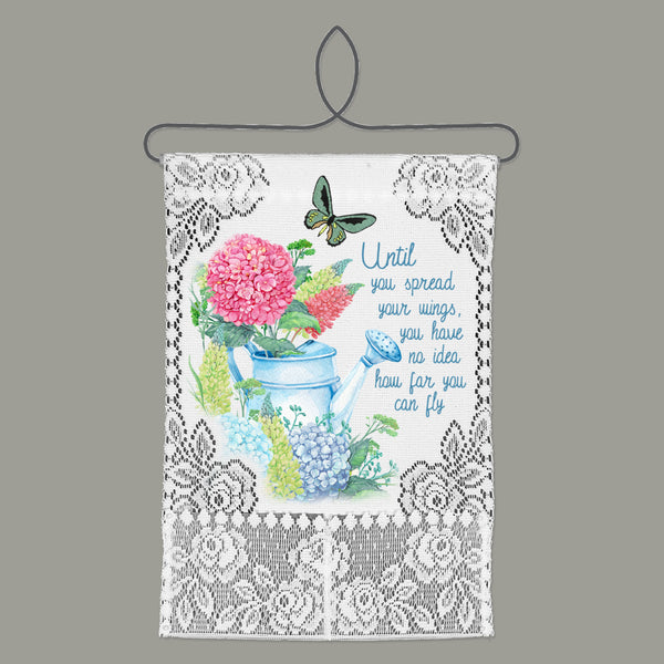 Wall Hanging-Cozy Home-Floral-Heritage Lace-Spread Your Wings