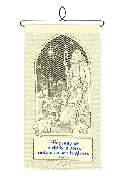Christian-Wall Hanging-A Child is Born-Heritage Lace